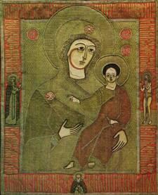 Образ Богоматери с Младенцем в древнерусском лицевом шитье. Богоматерь «Одигитрия»