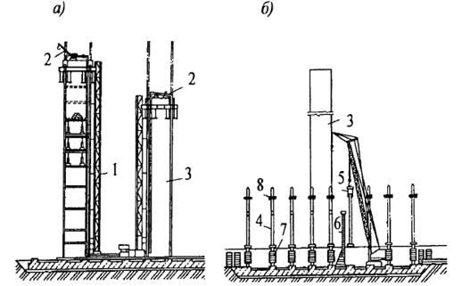 Описание: Бетонирование ядра жесткости и монтаж колонн первого яруса