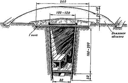 Перекрытая щель (размеры даны в сантиметрах)