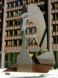 Picasso sculpture in Chicago.