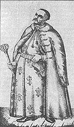 Украинские типы: полковник. Гравюра Т.Калинского(XVIII ст.)