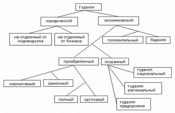 Рис. 2. Классификация гудвилла