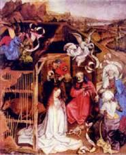 1. Робер Кампен. Рождение Христа. 1425. Дижон. Городской музей