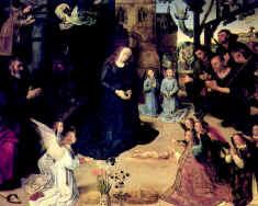 4. Рогир ван дер Вейден. Поклонение Младенцу. Алтарь Бладелена. 1446–1452. Берлин-Далем