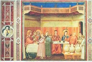 Джотто. Брак в Кане. 1304-1306. Падуя. Капелла Скровеньи