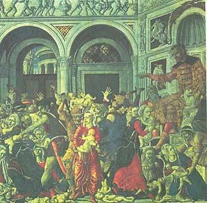 Маттео ди Джованни. Избиение младенцев. 1488. Неаполь. Национальная галерея