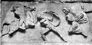 Битва греков с амазонками.