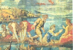 Рафаэль. Чудесный улов. 1515-1516. Лондон. Национальная галерея