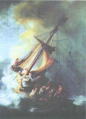 Рембрандт. Укрощение бури на пути через Генисаретское озеро. 1633. Бостон. Собрание Изабеллы Стюарт Гарднер
