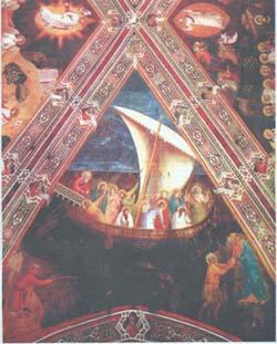 Андреа да Фиренце. Маловерие Петра. 1365-1368. Церковь Санта Мария Новелла