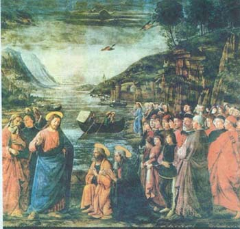 Доменико Гирландайо. Призвание апостолов Петра и Андрея. 1481. Ватикан. Сикстинская капелла