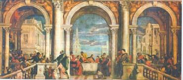 Паоло Веронезе. Пир в доме Левия. 1573. Венеция. Галерея Академии