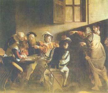Караваджо. Призвание Матфея. 1597—1599. Рим, Капелла Контарелли в церкви Сан Луиджи деи Франчези