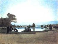 Бенуа - Версаль. Людовик XIV кормит рыб