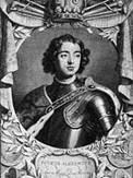Юный Петр (немецкая гравюра)