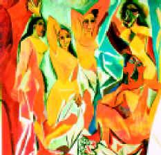Пабло Пикассо. Авиньонские девушки. 1907. Х., м.